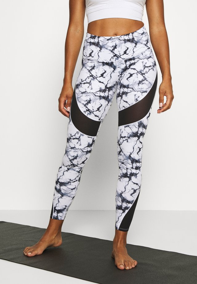 LEGGING MARBLE - Leggings - white