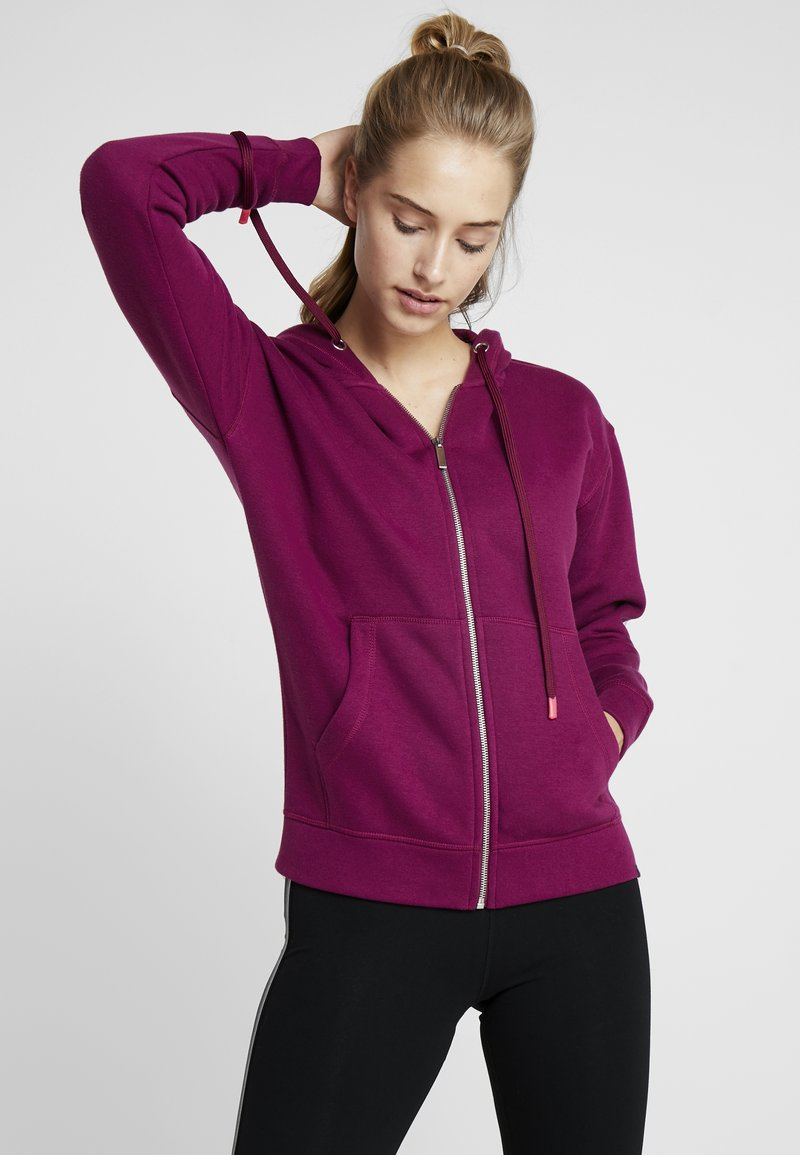 Hunkemöller - HOODY  - Sweatjacke - purple potion