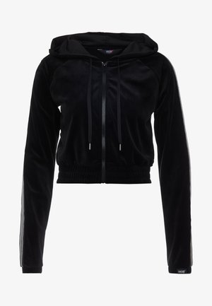 HOODY VELOUR - Collegetakki - black