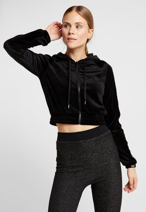 HOODY VELOUR - Mikina na zip - black