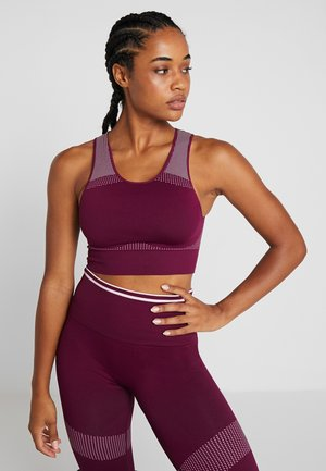 THE HIGHNECK - Sports bra - purple potion
