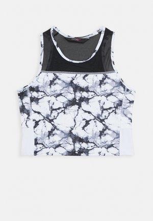 CROPPED TANK MARBLE - Sportshirt - white