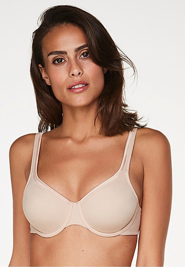 SATIN FLEECE - T-shirt bra - tan