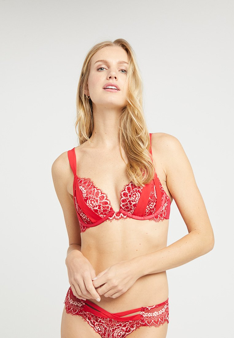 Hunkemöller - TORIL - Push-up BH - tango red