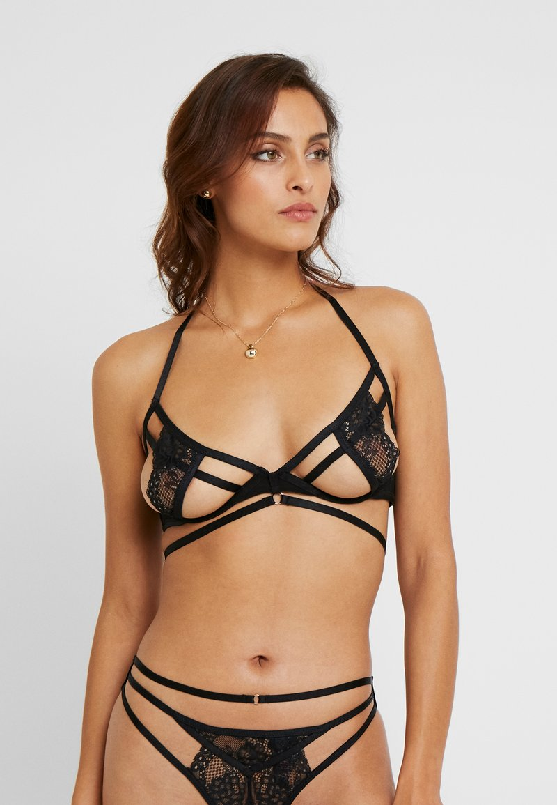 Hunkemöller - ROMANE UP - Underwired bra - caviar