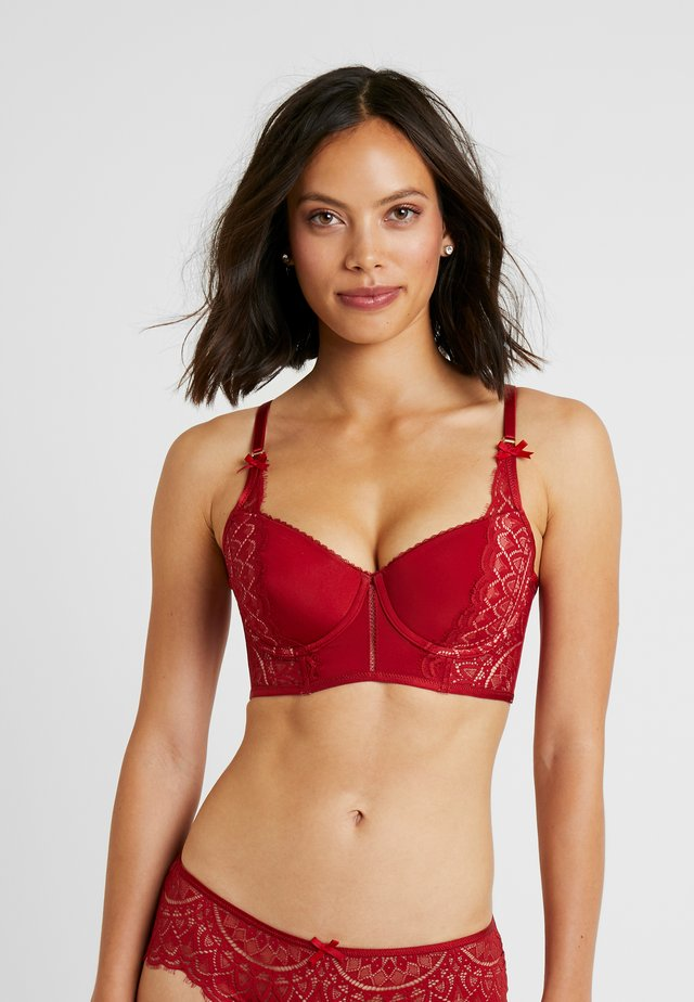 NOFEE - Kaarituelliset rintaliivit - retro red