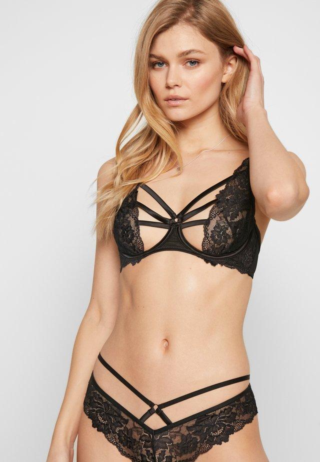 SOSHA - Kaarituelliset rintaliivit - black