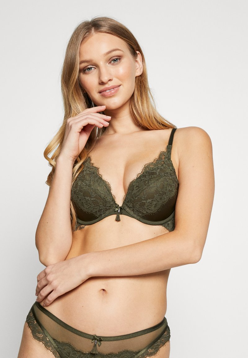 Hunkemöller - LILLIANA SET - Push-up BH - khaki