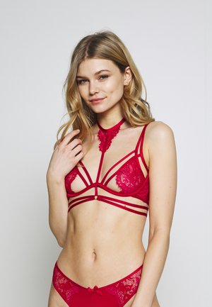 CHASITY UP - Underwired bra - tango red