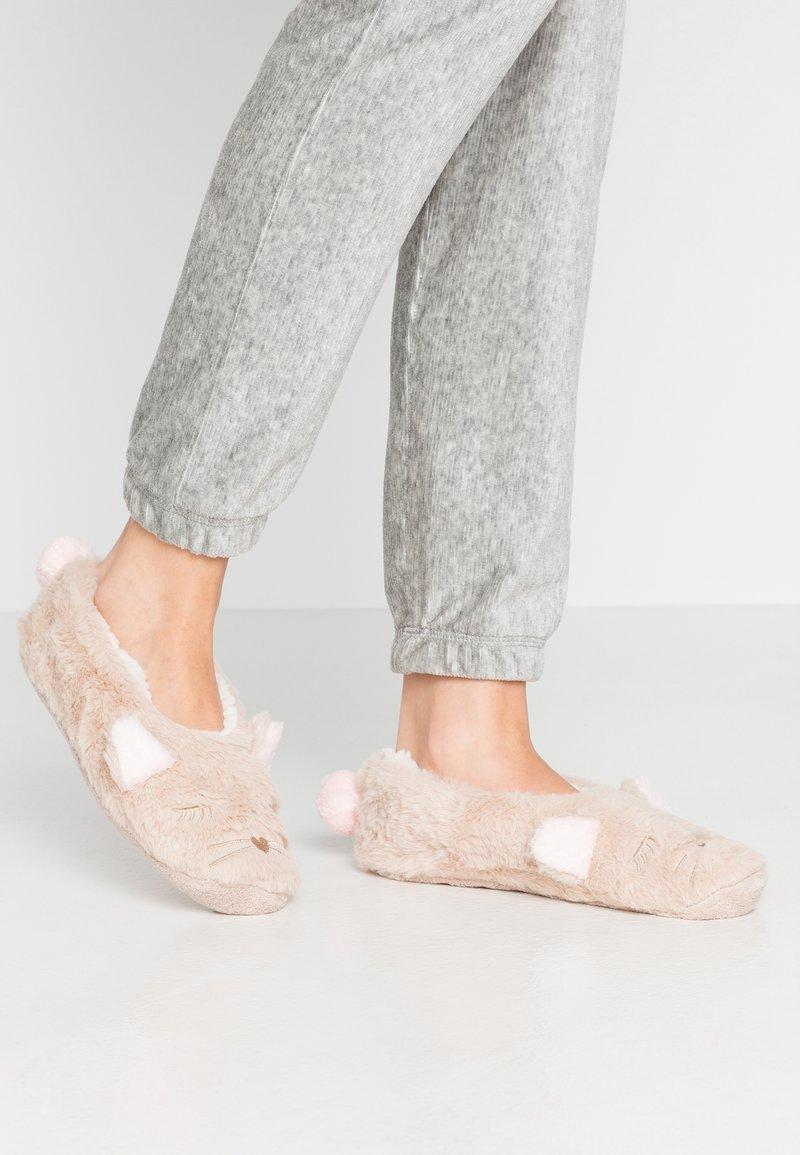 Hunkemöller - DESERT FOX COSY - Slippers - oatmeal marl