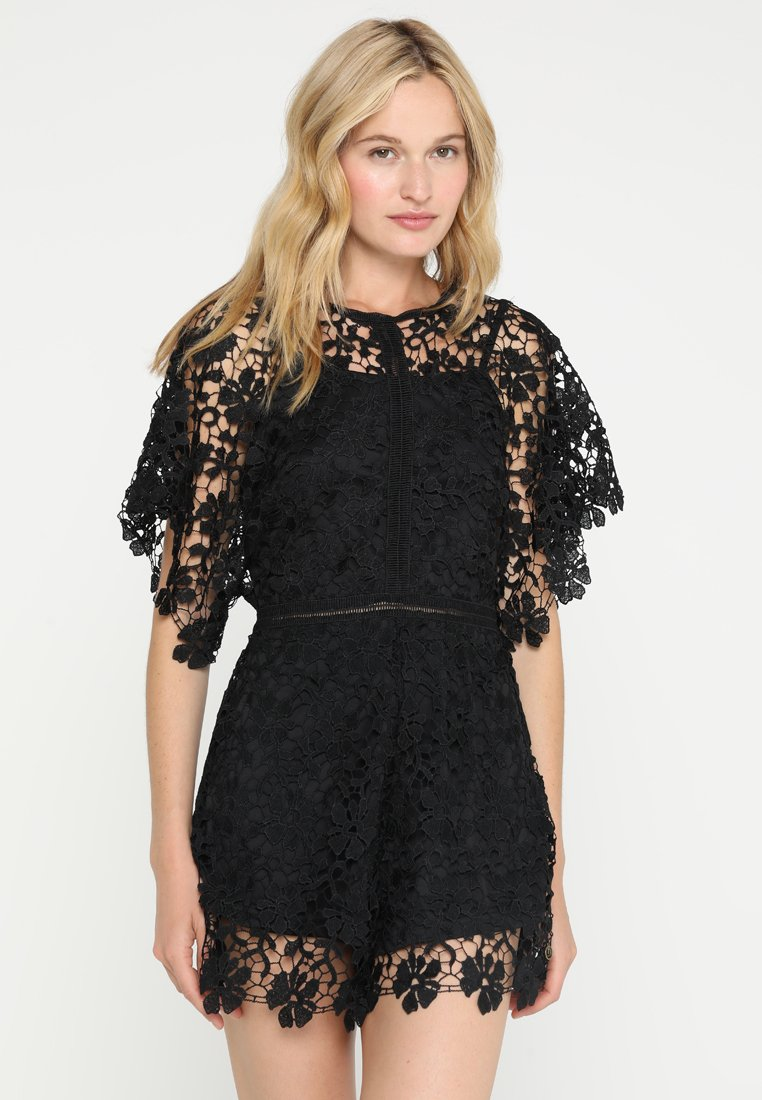 Hunkemöller - LACE PLAYSUIT - Strandaccessoire - black