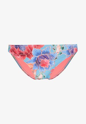 MIXED FLOWER REGULAR RIO - Bikinibroekje - aqua blue