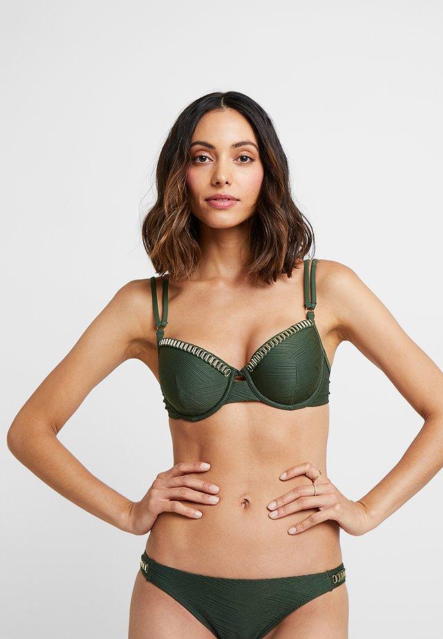 LINES DEMI - Bikini top - khaki