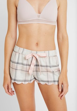 SHORT TWILL CHECK SCALLOP - Pyjamasbukse - cloud pink