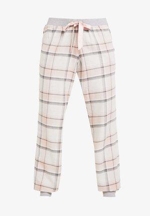 PANT TWILL CHECK CUFF - Pyjamasbukse - cloud pink