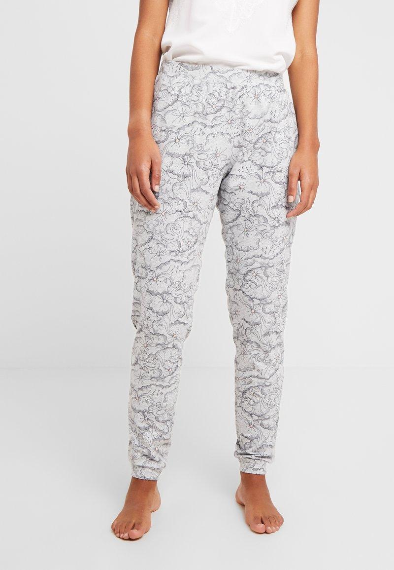 Hunkemöller - PANT SWAN - Pyjamasbukse - light grey melee