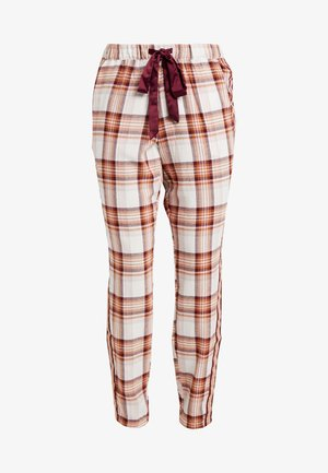 PANT CHECK TAPE - Pyjamasbukse - windsor wine