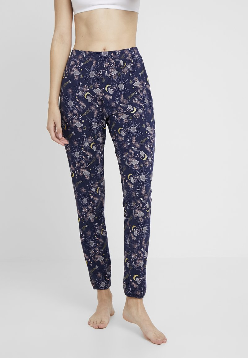 Hunkemöller - PANT CONSTELLATION - Pyjama bottoms - peacot
