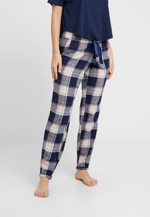PANT CHECK - Pyjamasbukse - blue