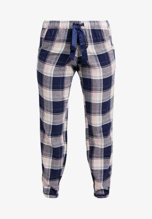PANT CHECK - Pyjamasbyxor - blue