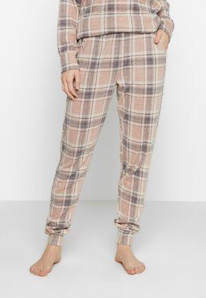 PANT BRUSHED CHECK - Spodnie od piżamy - rose smoke