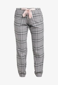 Hunkemöller - PANT CHECK - Pyjamasbukse - silver grey - 3