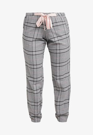 PANT CHECK - Pyjamasbukse - silver grey