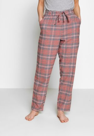 PANT CHECK - Pyjamahousut/-shortsit - warm grey melee