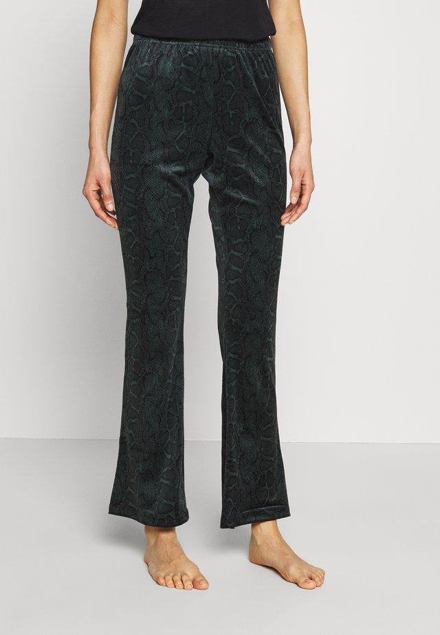 FLARED SNAKE - Pyjamasbyxor - darkest spruce