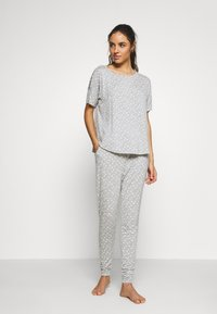 Hunkemöller - PANT EYES - Pyjamasbukse - warm grey melee - 1
