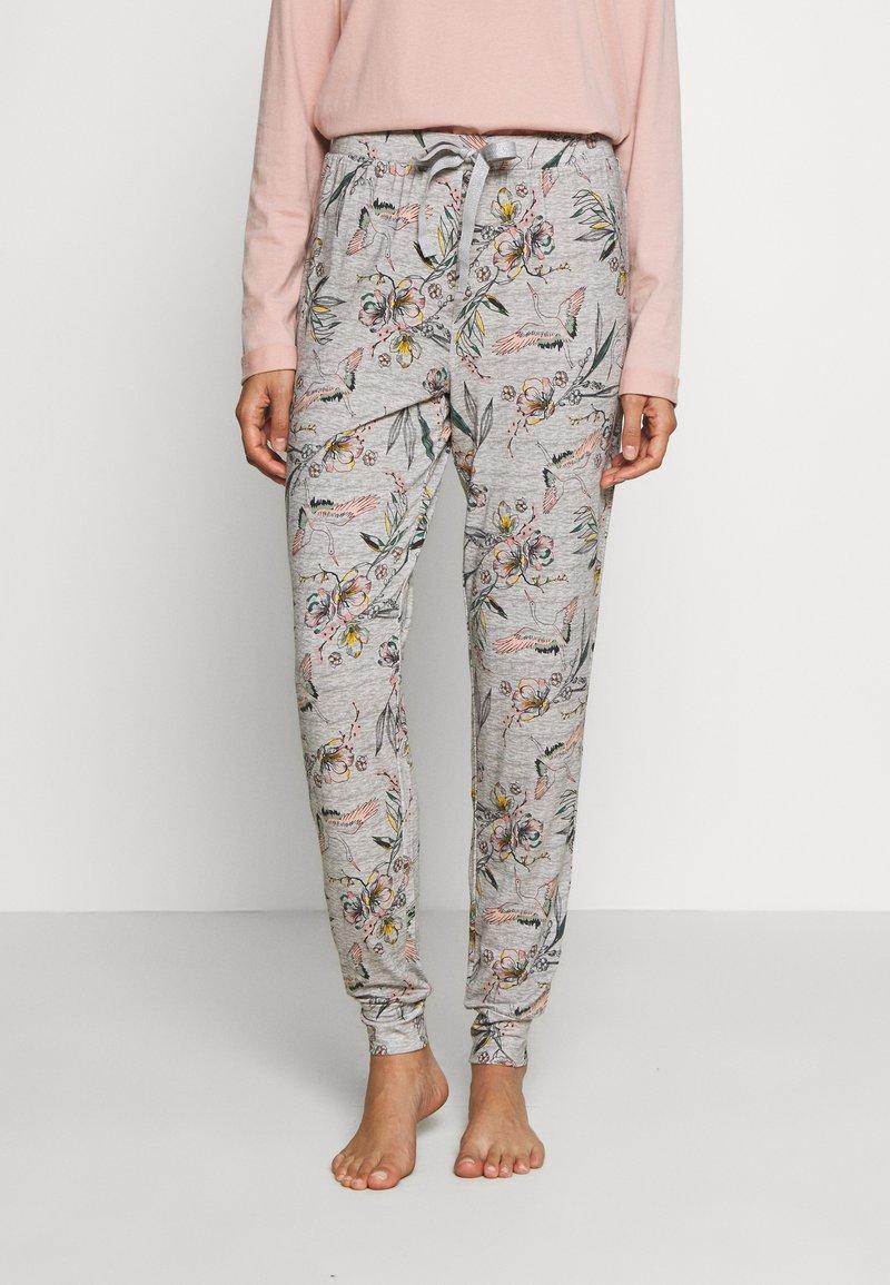 Hunkemöller - PANT BIRDS - Pyjamasbukse - light grey