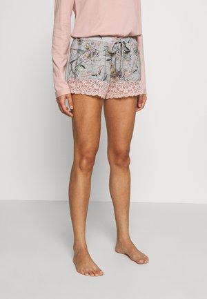 SHORT BIRDS - Spodnie od piżamy - light grey melee
