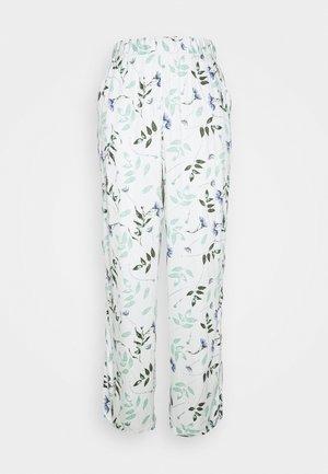 PANT PRESSED LEAVES - Pyjamasbukse - snow white