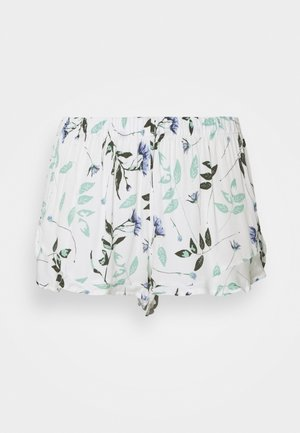 SHORT PRESSES LEAVES - Pyjamasbukse - snow white