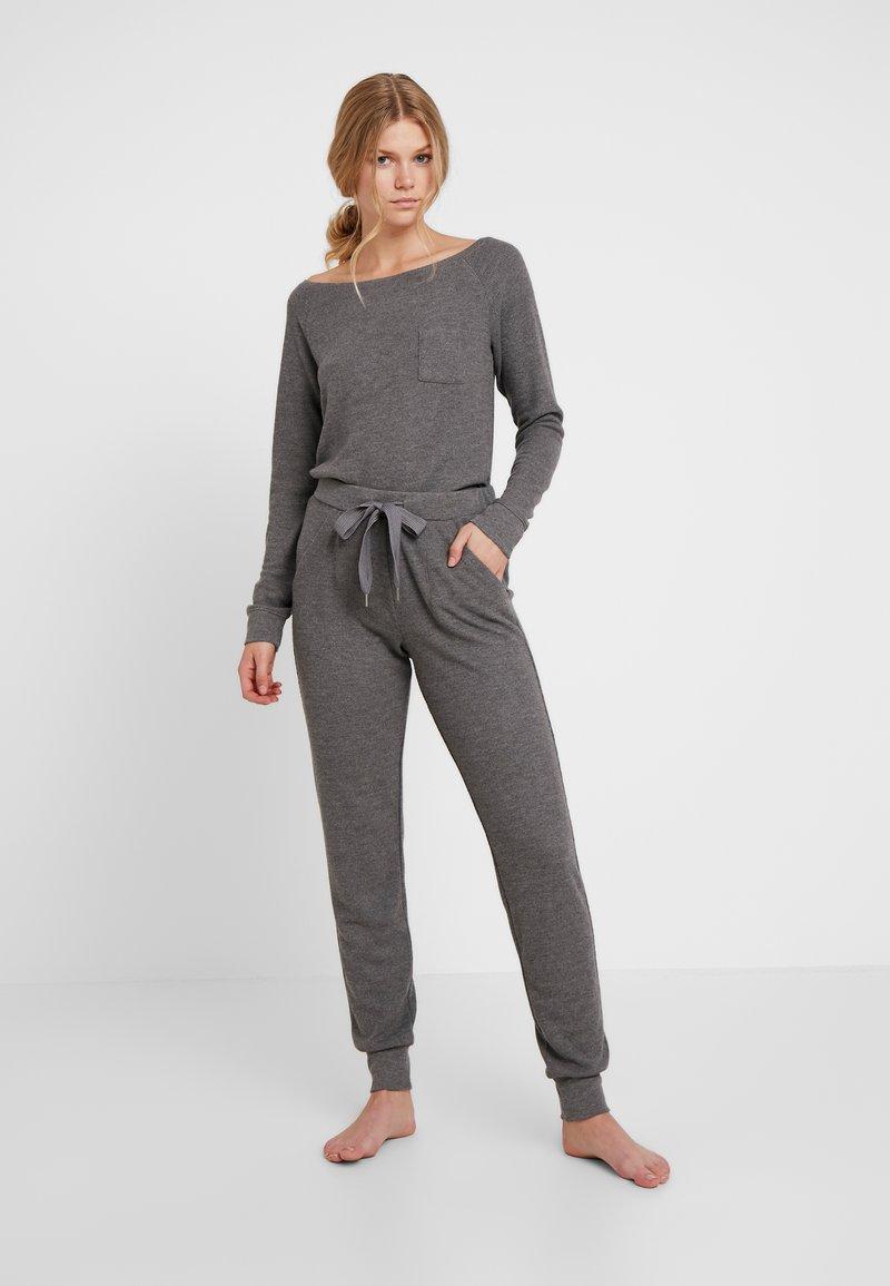 Hunkemöller - BRUSHED WAFFLE - Pyjamaser - mid grey