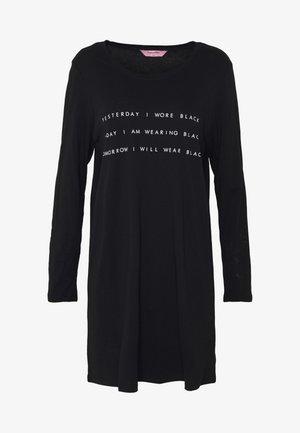 NIGHTIE NECK - Camicia da notte - black