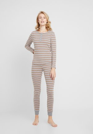PANT STRIPE SET - Pyjama - mid grey