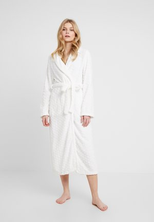 ROBE LONG HONEYCOMB - Dressing gown - off white