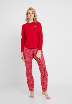 SCRIPT SET - Pyžamová sada - tango red
