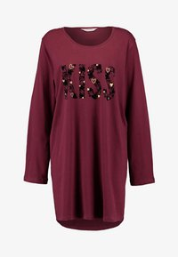 Hunkemöller - NIGHTIE NECK HEARTS - Noční košile - windsor wine - 3
