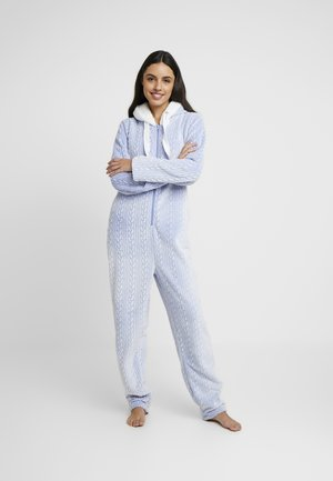 ONESIE EMBOSSED - Pyjamas - blue