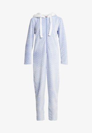 ONESIE EMBOSSED - Pyjamas - blue