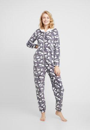 ONESIE SWAN - Pyjamas - silver grey