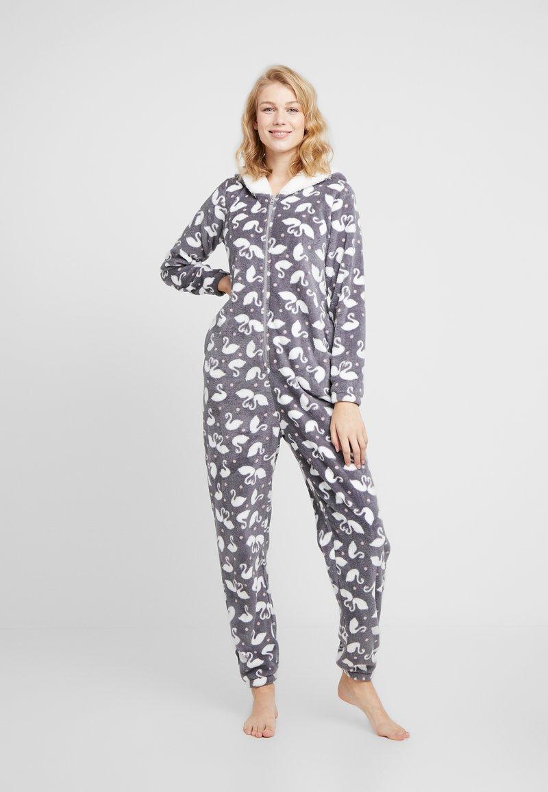 Hunkemöller - ONESIE SWAN - Pijama - silver grey