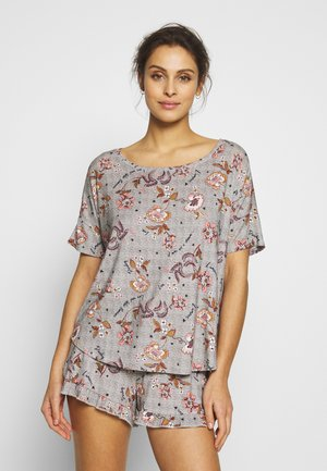 SHORT MEADOW BLOOM SET - Pyjama - warm grey