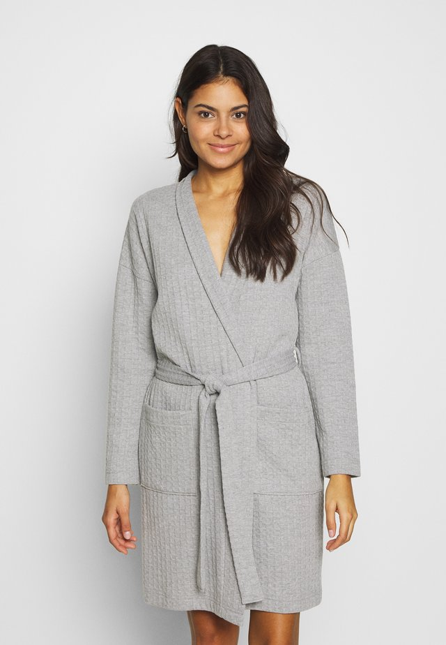 ROBE - Bademantel - warm grey melee