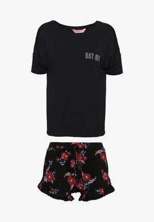 SHORT IN FLORAL SET - Pyjamas - black