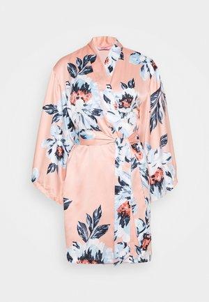 KIMONO PAINTED FLOWER - Badjas - rose tan