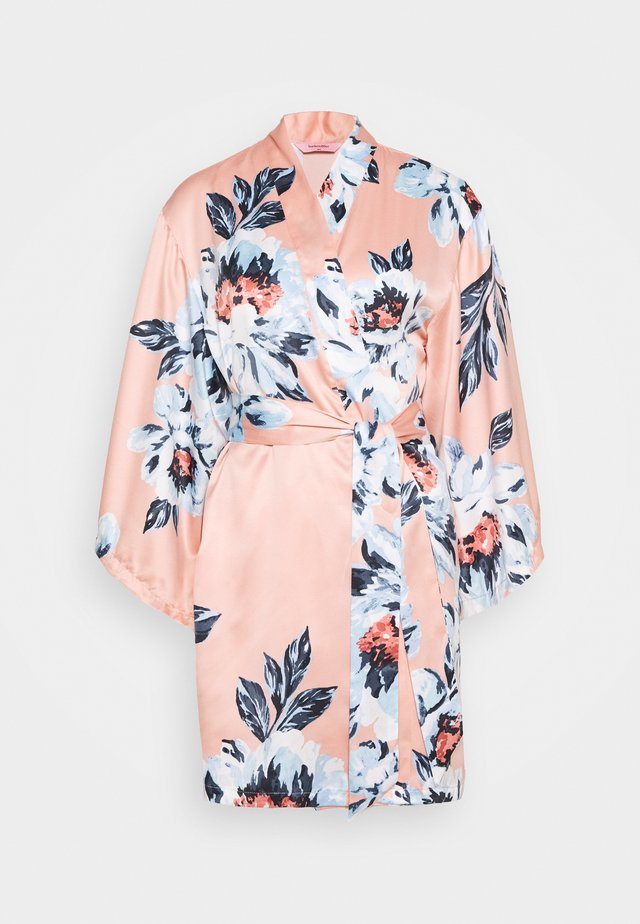 KIMONO PAINTED FLOWER - Dressing gown - rose tan