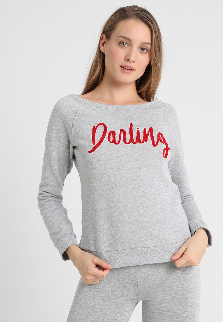 Hunkemöller - DARLING - Nachtwäsche Shirt - light grey melee